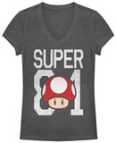 Juniors: Super Mario- Super Power Up V-Neck T-shirts