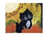 Welcome Halloween Black Cat Photographic Print by sylvia pimental