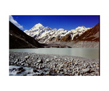 Aoraki - Mount Cook and Hooker Lake Photographic Print by Ronald A Dahlquist