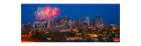 Denver Skyline Fireworks Photographic Print by Steve Gadomski
