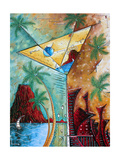 Tropical Martini Glass Cityscape PoP Art Posters by Megan Aroon Duncanson