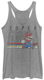 Juniors Tank Top: Super Mario- Throwback Mario Tank Top