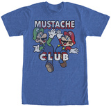 Mario Brothers- Mustache Club T-Shirts