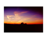 sunset clouds from Mount Diablo Photographic Print by Ronald A Dahlquist