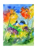 Watercolor 518030 Photographic Print by  Ledent