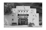 Show Tonight Amargosa Opera House BW Photographic Print by Steve Gadomski