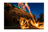 Fire Dancers In Spokane WA Photographic Print by Steve Gadomski