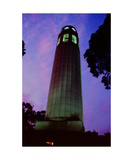 Coit Tower at dusk Photographic Print by Ronald A Dahlquist