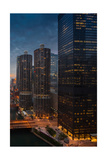 Marina City And AMA Plaza Chicago Photographic Print by Steve Gadomski
