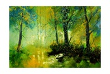 Fairies Wood Giclee Print by  Ledent