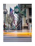 Marshall Field Clock Chicago Photographic Print by Steve Gadomski