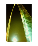 St Louis Gateway Arch at night Photographic Print by Ronald A Dahlquist