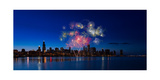 Chicago Lakefront Fireworks Photographic Print by Steve Gadomski