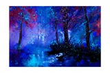 Fairies Night Giclee Print by  Ledent