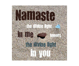 Namaste with Pebble and Beach Glass Photographic Print by Michelle Calkins