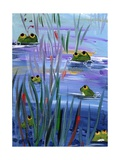 Frogs in the Pond Photographic Print by sylvia pimental