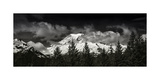 Mt Rainier Panorama BW Photographic Print by Steve Gadomski