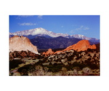 Pikes Peak above the Garden of the Gods Photographic Print by Ronald A Dahlquist