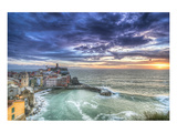 Vernazza Fishing Village Sunset Prints
