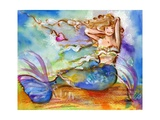 Pretty Blue Mermaid Affiches par sylvia pimental