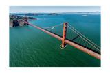 Golden Gate Bridge Aloft Photographic Print by Steve Gadomski