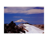 Mount Shasta from Lassen Peak summit Photographic Print by Ronald A Dahlquist