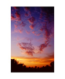 Sunset over the Sierra foothills Photographic Print by Ronald A Dahlquist