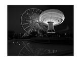 Navy Pier Nights Chicago BW Photographic Print by Steve Gadomski