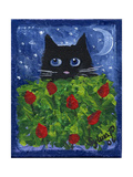Black Cat in the Tulips Photographic Print by sylvia pimental