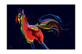 The Scared Rooster Photographic Print by Rabi Khan