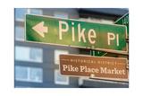 Pike Place Market Sign Photographic Print by Steve Gadomski
