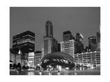 Chicago Black White Fotografisk tryk af Patrick Warneka