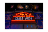 Chicago Cubs Win Fireworks Night Papier Photo par Steve Gadomski