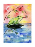 Mr Bullfrog with Firefly Photographic Print by sylvia pimental