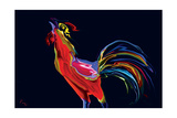 The Red Rooster Photographic Print by Rabi Khan