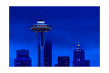 Space Needle Heights Photographic Print by Steve Gadomski