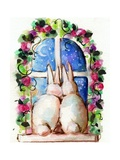 Bunny Rabbits in Window Photographic Print by sylvia pimental