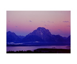 Mount Moran in predawn light Photographic Print by Ronald A Dahlquist