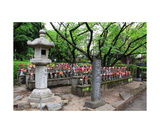 Jizo Images in Zojo-ji Temple Gronds Photographic Print by Ronald A Dahlquist