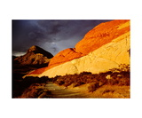 Sandstone cliff in Red Rocks Conservation Area Photographic Print by Ronald A Dahlquist