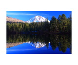 Lassen Peak and Reflection Lake Photographic Print by Ronald A Dahlquist