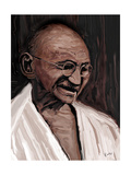gandhi Photographic Print by Rabi Khan