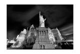 NY NY Las Vegas BW Photographic Print by Steve Gadomski