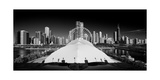 Navy Pier Wheel BW Photographic Print by Steve Gadomski