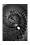 Scottys Castle Stairwell BW Photographic Print by Steve Gadomski