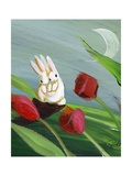 Bunnies & Tulips Photographic Print by sylvia pimental