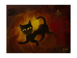 the black cat Photographic Print by Rabi Khan