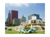 Chicago Buckingham Fountain Photographic Print by Patrick Warneka