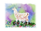 Pretty Llama Print by sylvia pimental