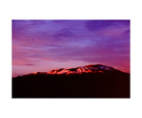 Snow on Mount Diablo from western Danville Photographic Print by Ronald A Dahlquist
